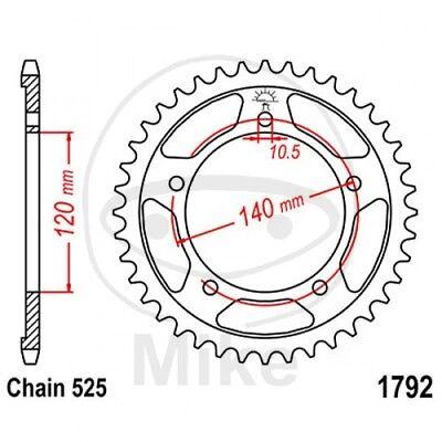 525 Teilung Suzuki GSX-R 600 CV1111 2009 Stahl Kettenrad 44 Zähne