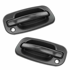 Door Handles Outside Exterior Black Front Left & Right Pair Set for Chevy GMC