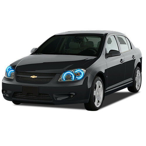LED Headlight Halo Ring Bluetooth Multi-Color RGB Kit for CHEVY Cobalt 05-10