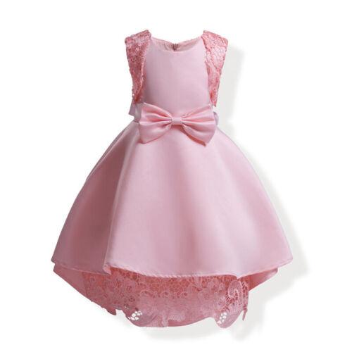 Kids Girls Princess Birthday Mini Dresses Wedding Bridesmaid Party Dress Formal