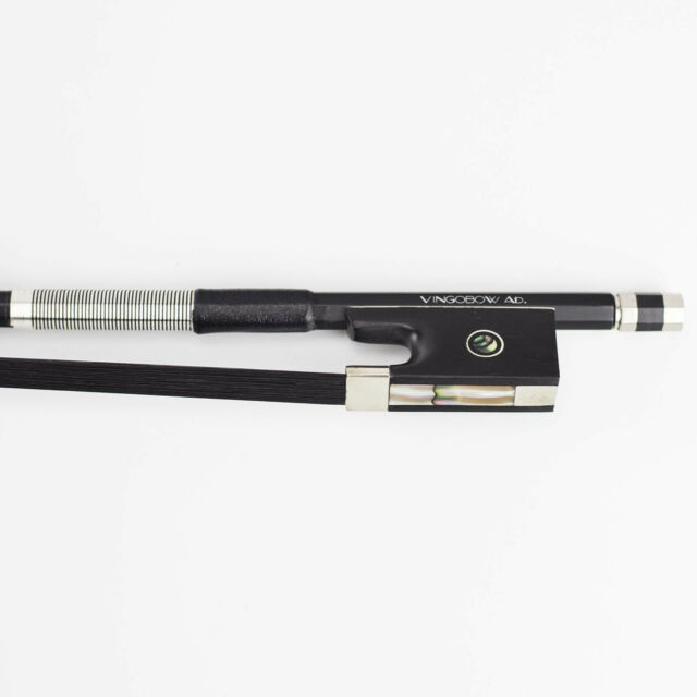 4//4 VINGOBOW Natural Black Horse Hair Carbon Fiber Violin Bow