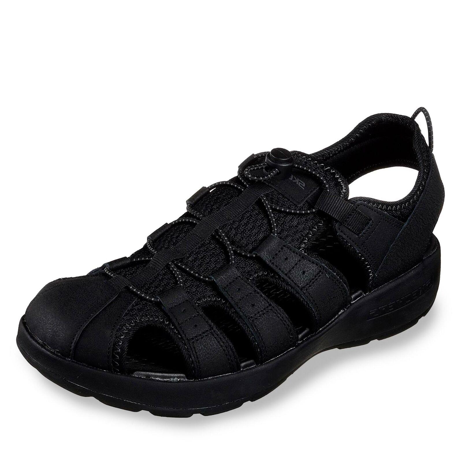 Skechers Melbo - Journeyman 2 Herren Sandale Schlupfschuh Sommer Schuhe schwarz