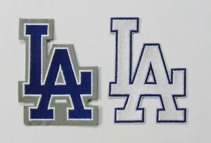 LOT-OF-2-DUAL-MLB-BASEBALL-L-A-DODGERS-LA-EMBROIDERED-PATCHES-59