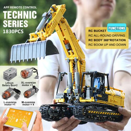 PF version Blocks Toys Mould King Motorized Excavator truck Link Belt 250 X 3