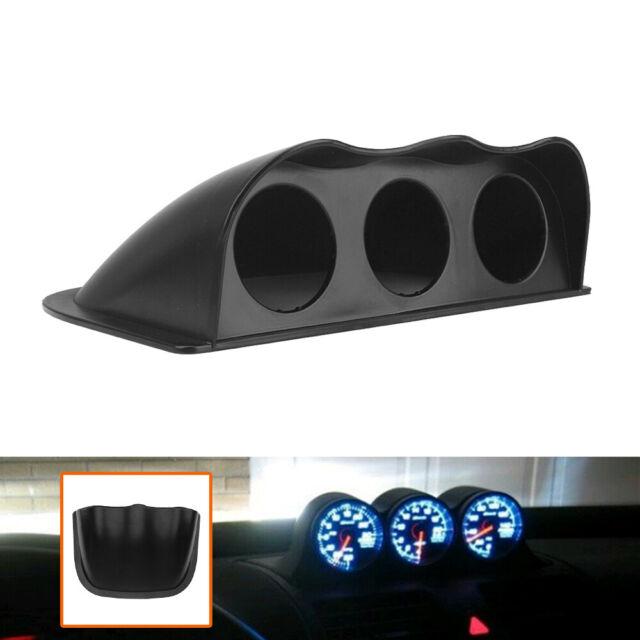 "2/"" 52mm Car A Pillar Pod 3Triple Gauge Holder Mount Pod Bendable Black.Universal"