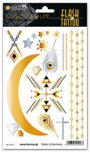 """FLASH Tattoo """"African"""", wasserfest, in Gold und Silber, HERMA 15157"""