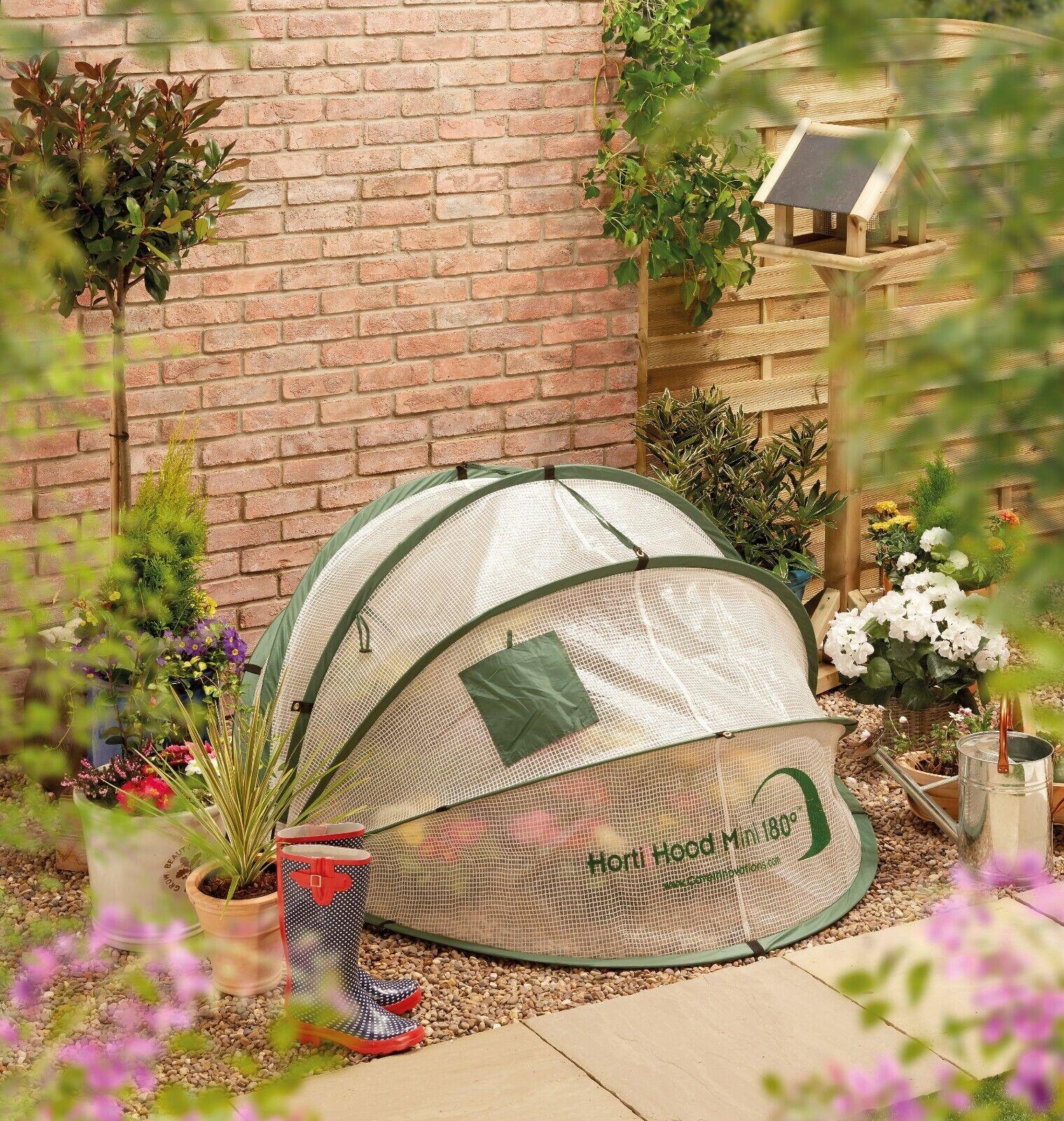 Horti Hood 180 Mini Wall-Mounted Folding PVC Cloche / HortiHood Mini Greenhouse