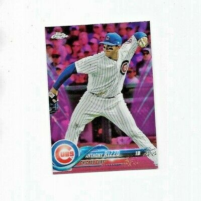 Anthony Rizzo Short Print (SP) Pink Refractor Parallel ...