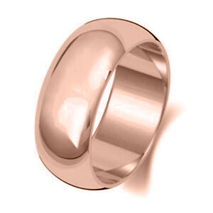 Brand-New-Hallmarked-9ct-Rose-Gold-Wedding-Ring-Band-D-Shaped