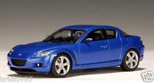 MAZDA RX-8 COUPE WINNING BLUE METALLIC AUTOART # 55923 1/43 NEW 2003 BLAU BLEU