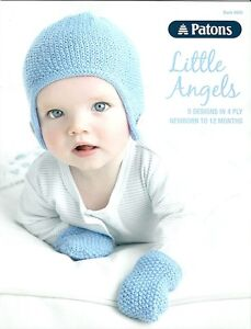 Patons LITTLE ANGELS 5 Designs in 4 Ply Newborn to 12 Months Book 8000
