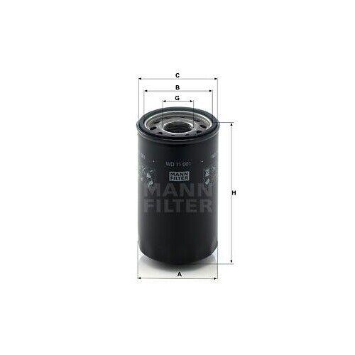Filter für Arbeitshydraulik Hydraulikfilter MANN-FILTER WD 10 004