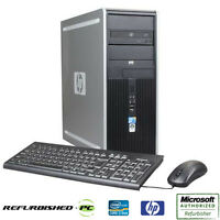 CLEARANCE!!! Fast HP Desktop Tower Computer PC Core 2 Duo WINDOWS 10 Home / Pro