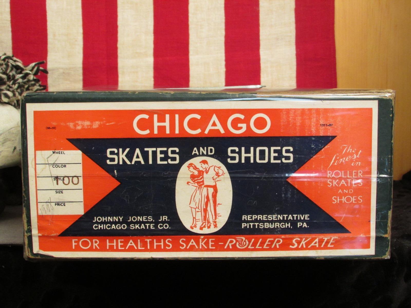 Vintage Vintage Vintage Chicago Damen Weiße Leder Rollschuhe 78SPL Reifen Sz.8 W / Geschäft Box 873791