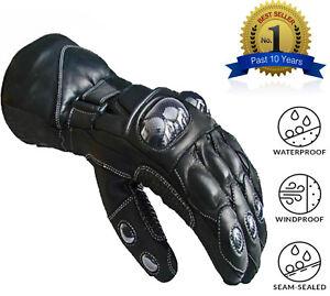 Leather-Motorcycle-Gloves-Motorbike-Waterproof-Thermal-Biker-Windproof-Winter