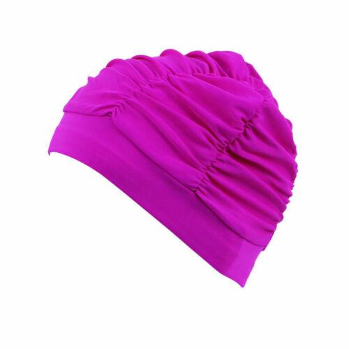 Women Swimming Cap Hat Free Size Suitable Long Hair Swim Supplies Protect Ear