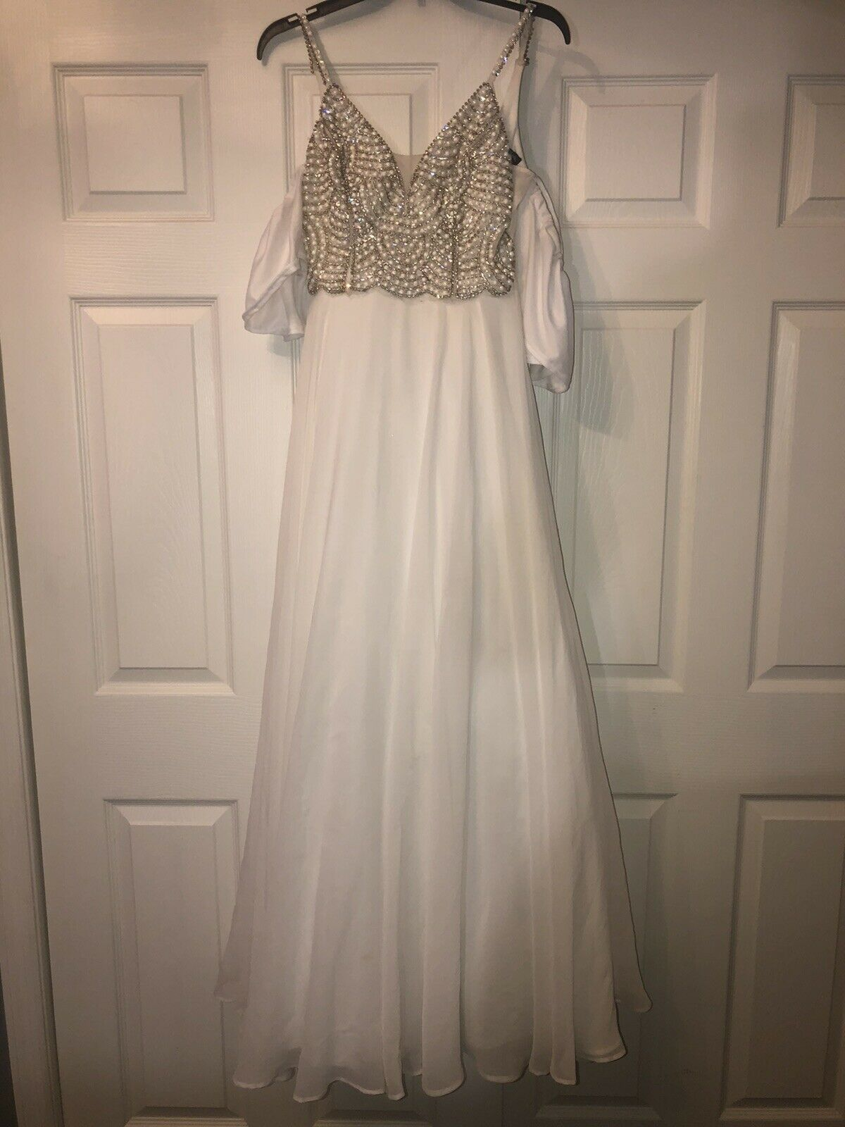 White pearl ball gown - image 3
