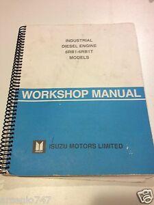 industrial diesel engine 6rb1 6rb1 t workshop manual isuzu ebay rh ebay com 1990 Isuzu Trooper isuzu 6rb1 workshop manual