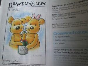 """""""amis... Partager"""" Newton's Law Cross Stitch Chart Only-afficher Le Titre D'origine Apparence éLéGante"""