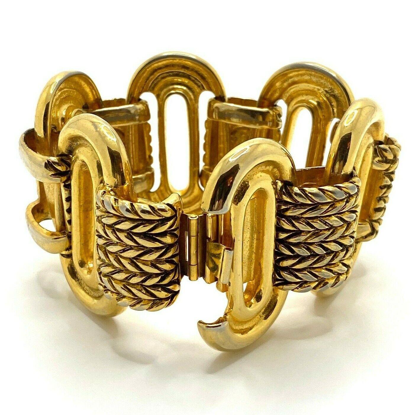 Vintage Claire Deve Paris Bracelet Signed Chunky … - image 4