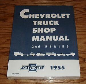 1955 chevrolet truck shop service manual 2nd series 55 chevy ebay rh ebay com 53 Chevy 57 Chevy
