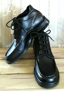 ROCKPORT-Black-Leather-Chukka-Ankle-Boots-Women-039-s-Size-6-5-M