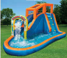 inflatable water slide pool bounce house commercial bouncer swimming backyard - Inflatable Water Slide