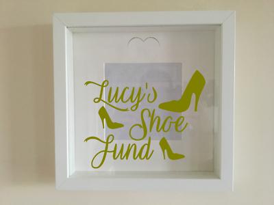 Ikea Ribba Caja Marco Personalizado De Vinilo Pared Arte Fondo dinero caja de zapato