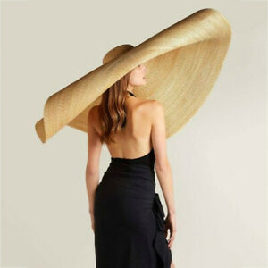Fashion-Large-Sun-Hat-Beach-Anti-UV-Sun-Protection-Foldable-Straw-Cap-Super-Size