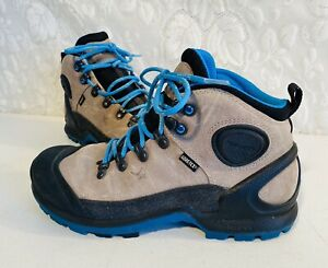 Details zu ECCO Biom Terrain Akka Mid Plus GTX Blue Gray Black Hiking Winter Boots 39 8 8.5