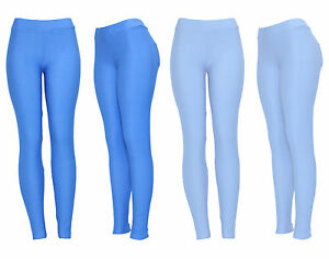 New-Women-039-s-Ladies-Girls-Blue-Skinny-fit-Jegging-Leggings-Jeans-UK-Size-8-14