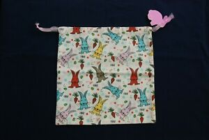 Hand-made-Rabbit-Bunny-Cotton-Gift-Bags-100-CHARITY