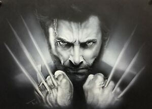 Airbrushed-Portrait-of-Wolverine
