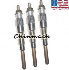 3 Pieces Glow Plug For Kubota Compact Tractor B1550d B1700 B21 B2100 B2710hsd