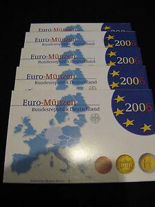 2006-Euro-KMS-PP-1Ct-bis-2-Euro-u-a-Holsten-Tor-Luebeck-und-2-Kursmuenze-ADFGJ