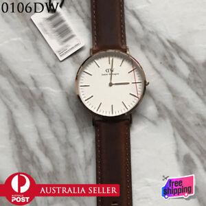 New-in-Box-Daniel-Wellington-0106DW-Classic-St-Mawes-Rose-40mm-Gold-Men-039-s-Watch