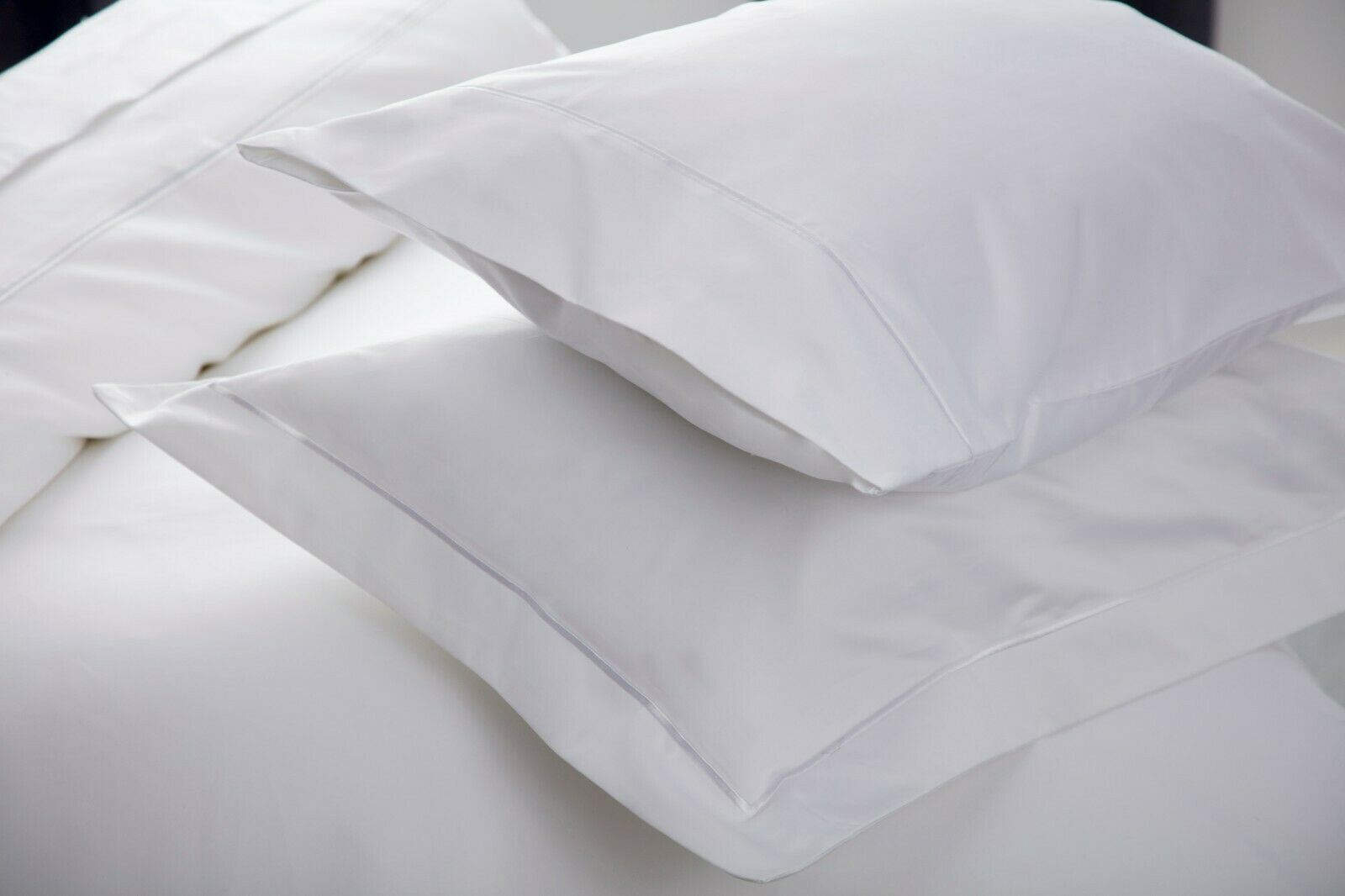 1000 Thread Count Single Ply Egyptian Cotton Pair Housewife PilFaible Cases blanc