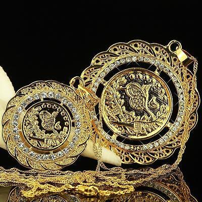 Sonstige Uhren & Schmuck Ehrlichkeit Damenkette Vogel Anhänger Zirkonia Weiß 750er Gold 18k Vergoldet 2 Größen A2545 Ausgezeichnet Im Kisseneffekt