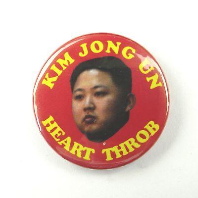 Kim Jong Un Heart Throb North Korea - Button Badge - 25mm 1 inch