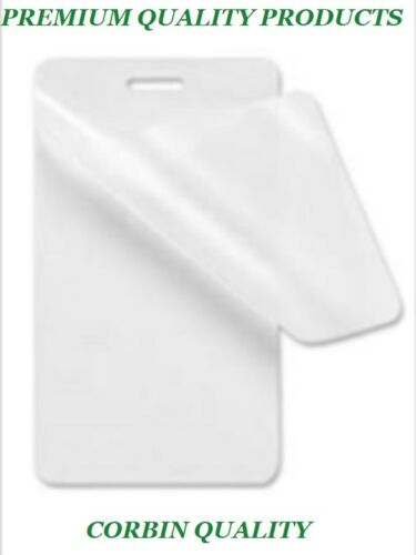 25 Luggage Tag 5 Mil Laminating Pouches Laminator Sleeves With Slot 2.5 x 4.25