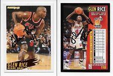 Glen Rice Heat signed front & back 1994-95 Fleer basketball card 118 auto 1/1