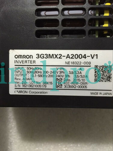 New Omron 3G3MX2-A2004-V1 D3