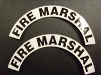 Crescents Pair Fire Marshall For Fire Helmet Or Hardhats