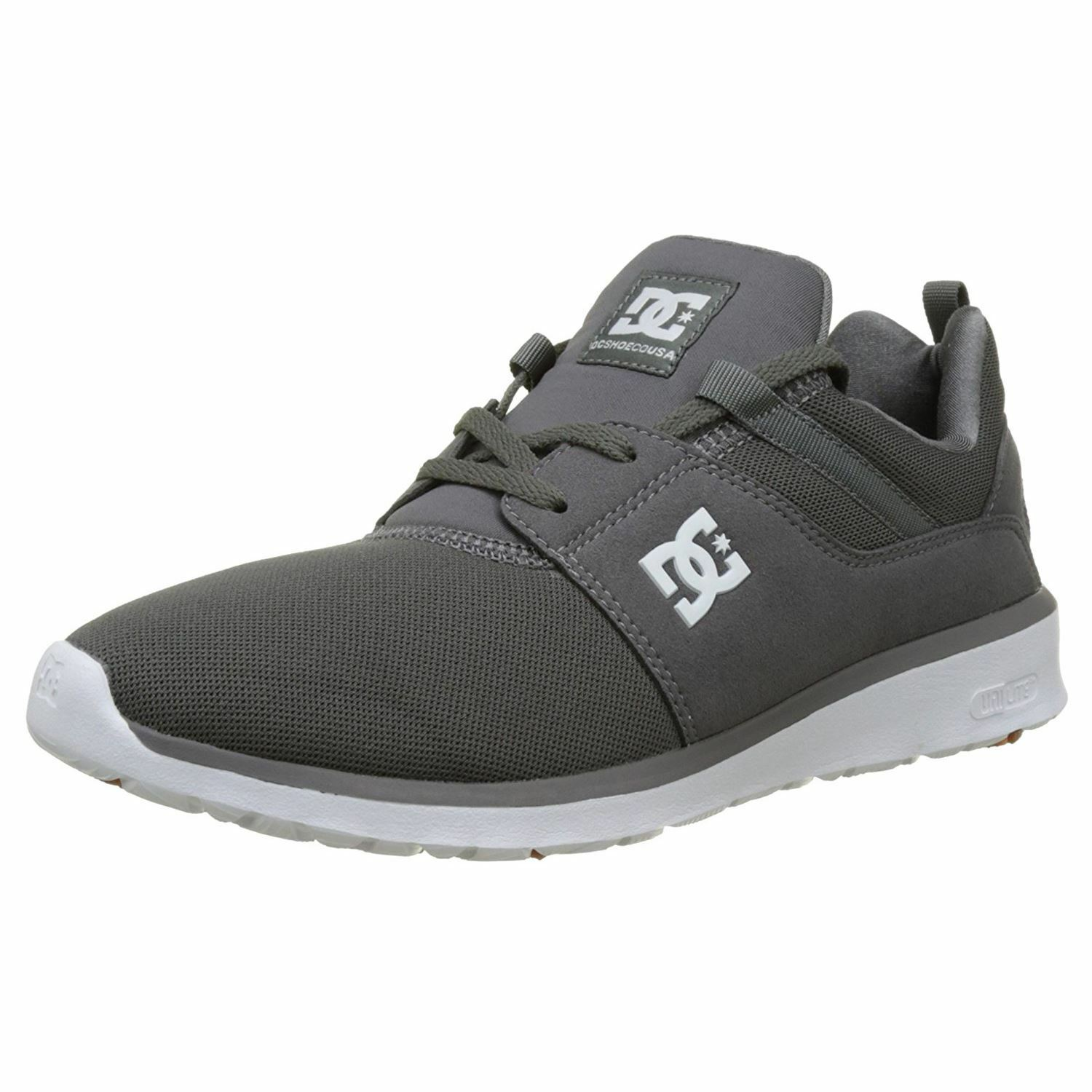 DC Shoes Heathrow Pewter Mens Low Top Mesh Trainers Sneakers