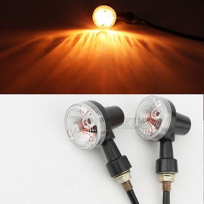 2X Cross LED Turn Signals Light For Harley Sportster 1200 883 XL Hugger Custom