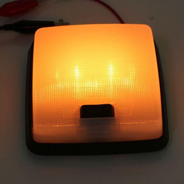 12V Square Car Van Vehicle Truck Motorhome Interior Roof Doom Light Lamps Switch
