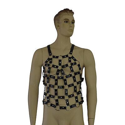 WohltäTig Männer Harness Geschirr Fetisch Kunstleder Bekleidung String Kettenhemd Neu Erotik