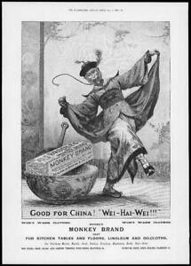 1898-Antique-ADVERTISING-Print-MONKEY-BRAND-Soap-Good-For-China-Wei-Hai-274