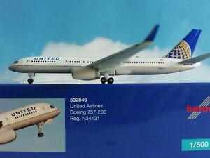 Herpa-Wings-1-500-532846-United-Airlines-Boeing-757-200-N34131-Neuware