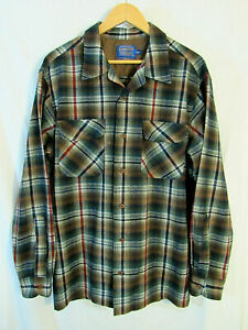 Modern-Pendleton-Men-039-s-Plaid-Board-Shirt-Size-L-Tall-near-mint-condition